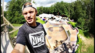 WORLD FIRST AT TRAVIS PASTRANA'S HOUSE!