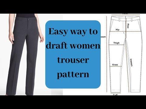 Women trouser   Learn how to make women's trouser [DETAILED]