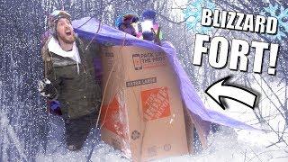 We Built a Blizzard Survival Fort!