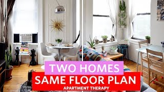 Two Railroad Apartments | Two Homes, Same Floor Plan | Apartment Therapy