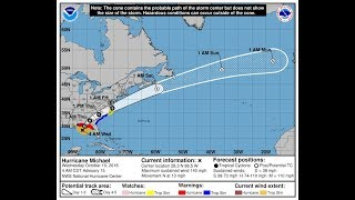 Tracking Hurricane Michael - Weather Channel RECORDED 10/10/2018 NOT LIVE