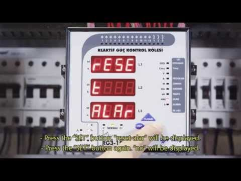 RG3 - 15 CLS Reaktif Güç Kontrol Rölesi - Sıfırlama İşlemleri Ayarı