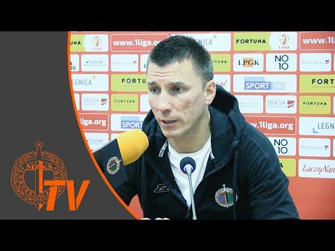 Wideo: Konferencja prasowa po meczu Miedź Legnica - Chrobry Głogów