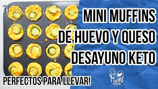 🍳MINI MUFFINS KETO DE HUEVO TOCINETA Y QUESO | MINI KETO BREAKFAST MUFFINS | Manu Echeverri