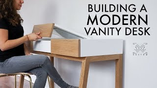 How To Build A Modern Vanity Desk // Woodworking Project // DIY Modern Furniture