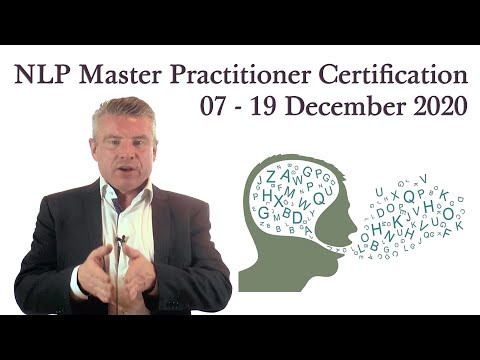NLP Master Practitioner Certification 07 - 19 December 2020 (London)