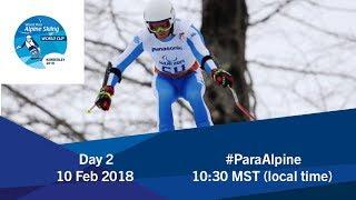 Downhill   2018 World Para Alpine Skiing World Cup   Kimberley