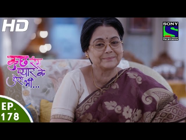 Kuch Rang Pyar Ke Aise Bhi – 3rd November, 2016 – Episode 178 – Full Episode