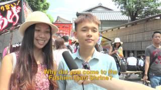 Travelers' Voice of Kyoto:FUSHIMI INARI Area Interview 003