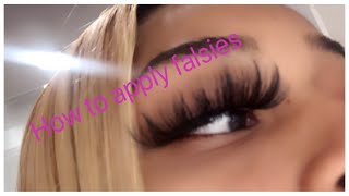 HOW TO APPLY FALSE EYELASHES FOR BEGINNERS !!