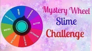 Челлендж слайм из случайных ингредиентов// mystery wheel slime challenge