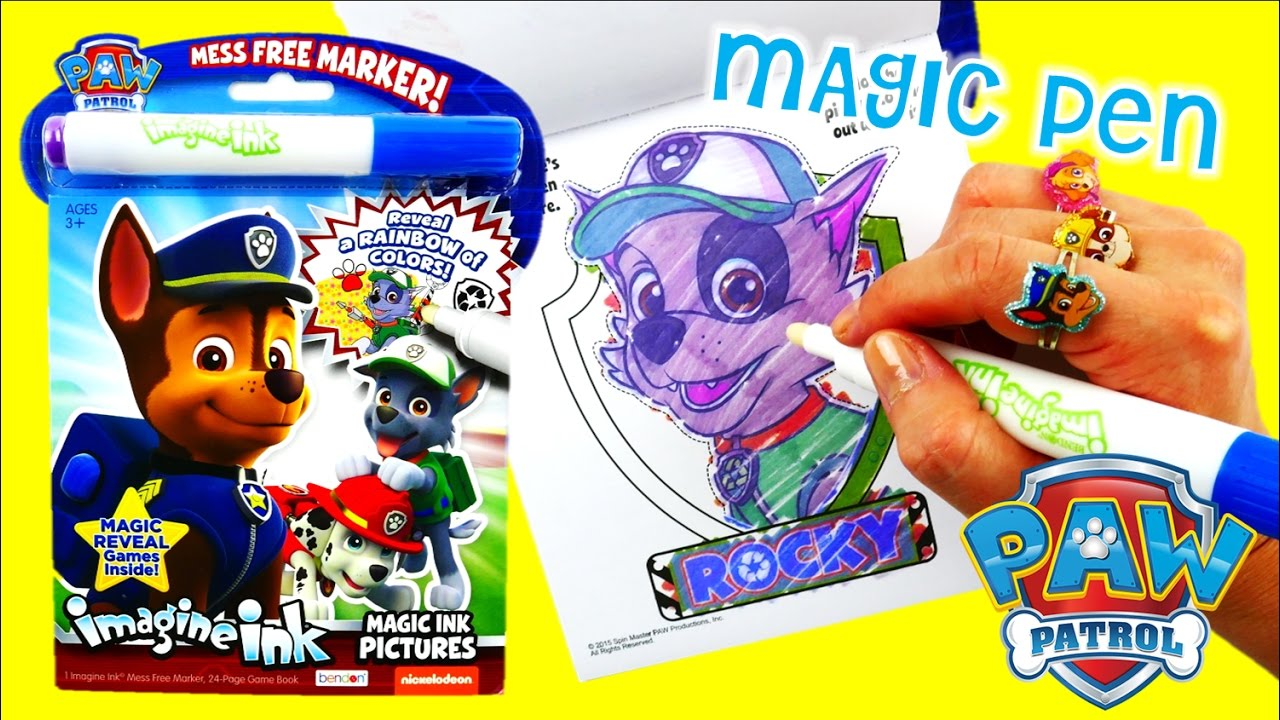 Paw Patrol Imagine Ink Marker New Coloring Book Episode With Magic Ink | Evies Toy House