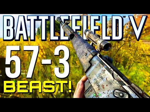 Battlefield 5: 57-3 with New MAS-44! (Battlefield V Multiplayer Gameplay)
