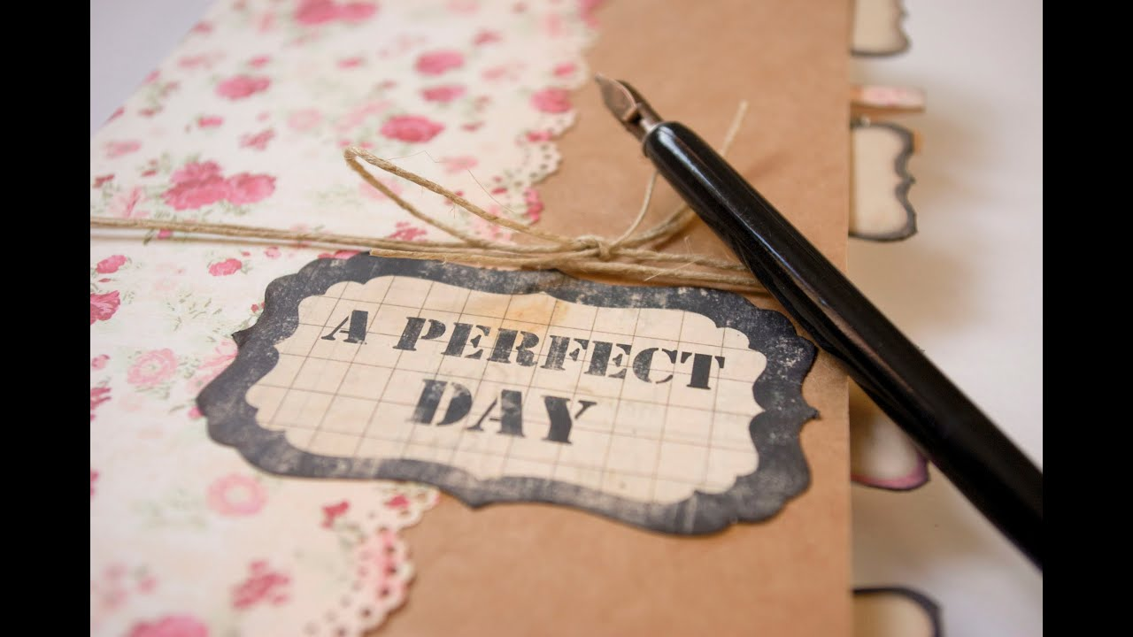 Cómo hacer una libreta personalizada. Puente a la Navidad 2012 día 3