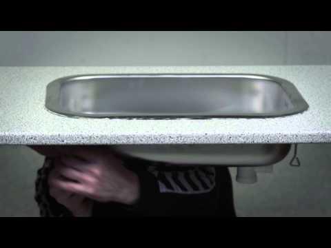Unik Sådan bruges Unigum ved ilægning af køkkenvask KL15