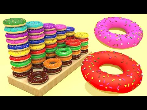 Учим Цифры до 10  Считаем Пончики  Развивающий мультфильм для детей  Волшебство ТВ видео