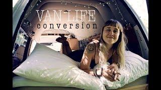 VAN LIFE: Solo female converts van (into tiny home!)