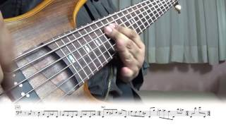Sacrificed sons (Dream theater) - bass cover (sheet music included)