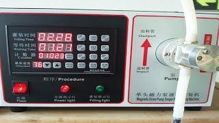 preview picture of video 'magnetic pump 5L semi automatic liquid filling equipment small Machine de remplissage liquide'