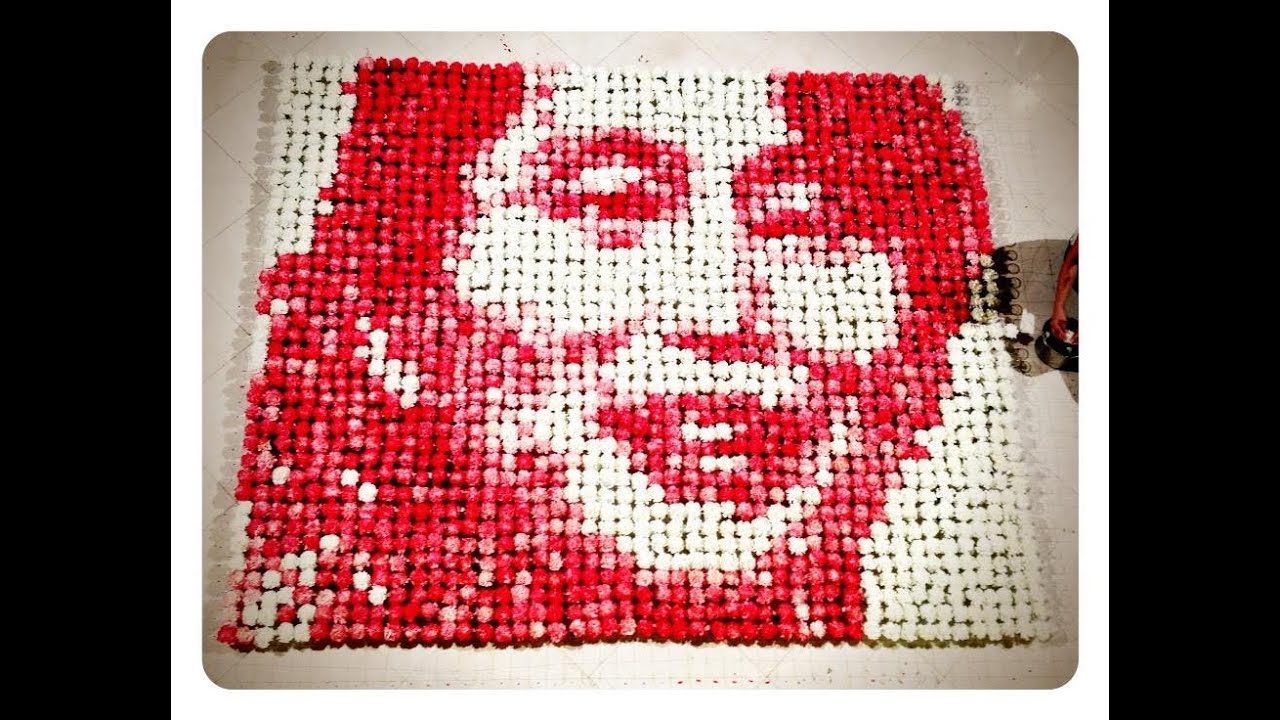 2000 Tinted Carnations Make For Beautifully Tedious Art
