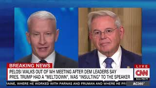 Menendez Tells Anderson Cooper About WH Meeting on Turkey & Syria