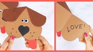 Heart Dog Valentines Craft for Kids