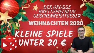 Kleine Spiele für unter 20€ • Brettspiele - Geschenke - Ratgeber Weihnachten / Nikolaus 2020