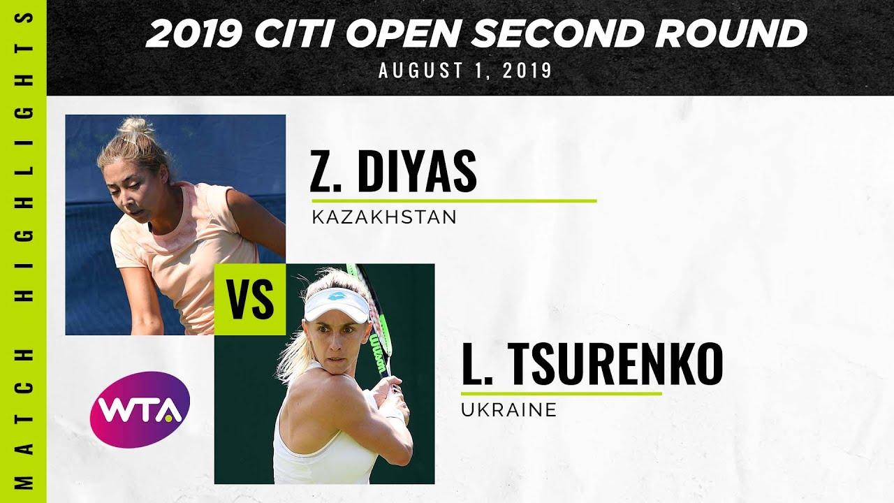 Обзор матча Леся Цуренко - Зарина Дияс на турнире в Вашингтоне (ВИДЕО)