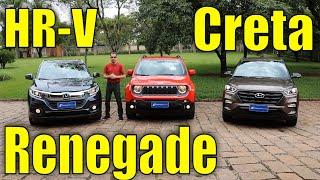Ver o vídeo Comparativo: Honda HR-V x Jeep Renegade x Hyundai