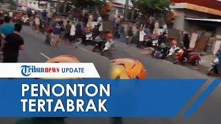 Viral Video Warga Tertabrak Motor Balapan Liar hingga Terpental di Sidoarjo