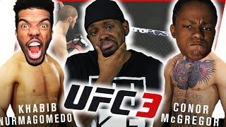 CONOR GETS OUT OF JAIL TO FIGHT KHABIB! TRENT VS JUICE REMATCH!! - UFC 3 Gameplay