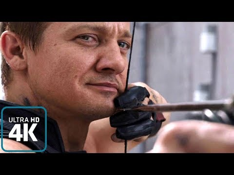 Hawkeye: All Fight scenes from the Films