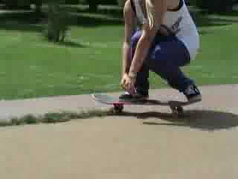 Candy Jacobs skateboarding