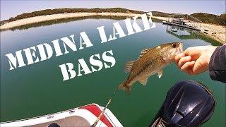 Fishing for Texas Largemouth Bass on Medina Lake in 4K