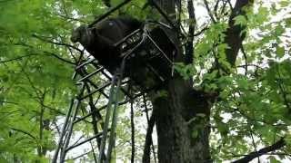 Set Up A Ladder Stand Safely For Deer Hunting