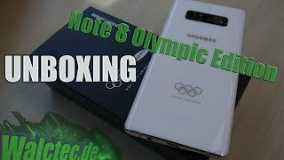 Galaxy Note 8 Olympic-Games Edition [Unboxing] 5G/LTE+ Test