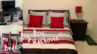 Boy Bedroom Makeover | Decorate With Me || Big Boy Room Makeover 🏠🖼