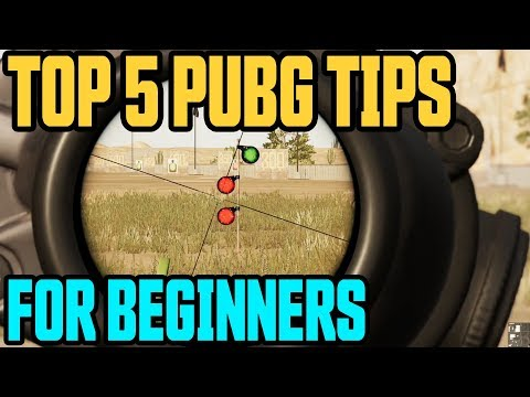 TOP 5 TIPS FOR BEGINNERS // PUBG Xbox One & PS4