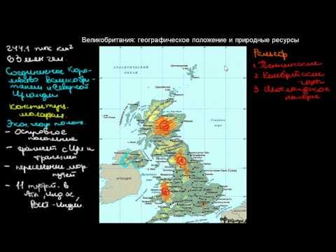 433  Великобритания географическое положение и природные ресурсы