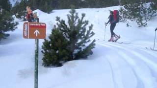 preview picture of video 'Travessa Cerdanya-Andorra-Cerdanya. Esquí Muntanya. 17/18-1-09'