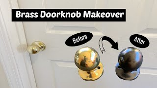 Brass Doorknob Makeover// How To Spray Paint Hardware