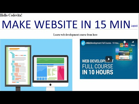 , title : 'CREATE YOUR OWN WEBSITE IN JUST 15 MIN BY HTML ONLY