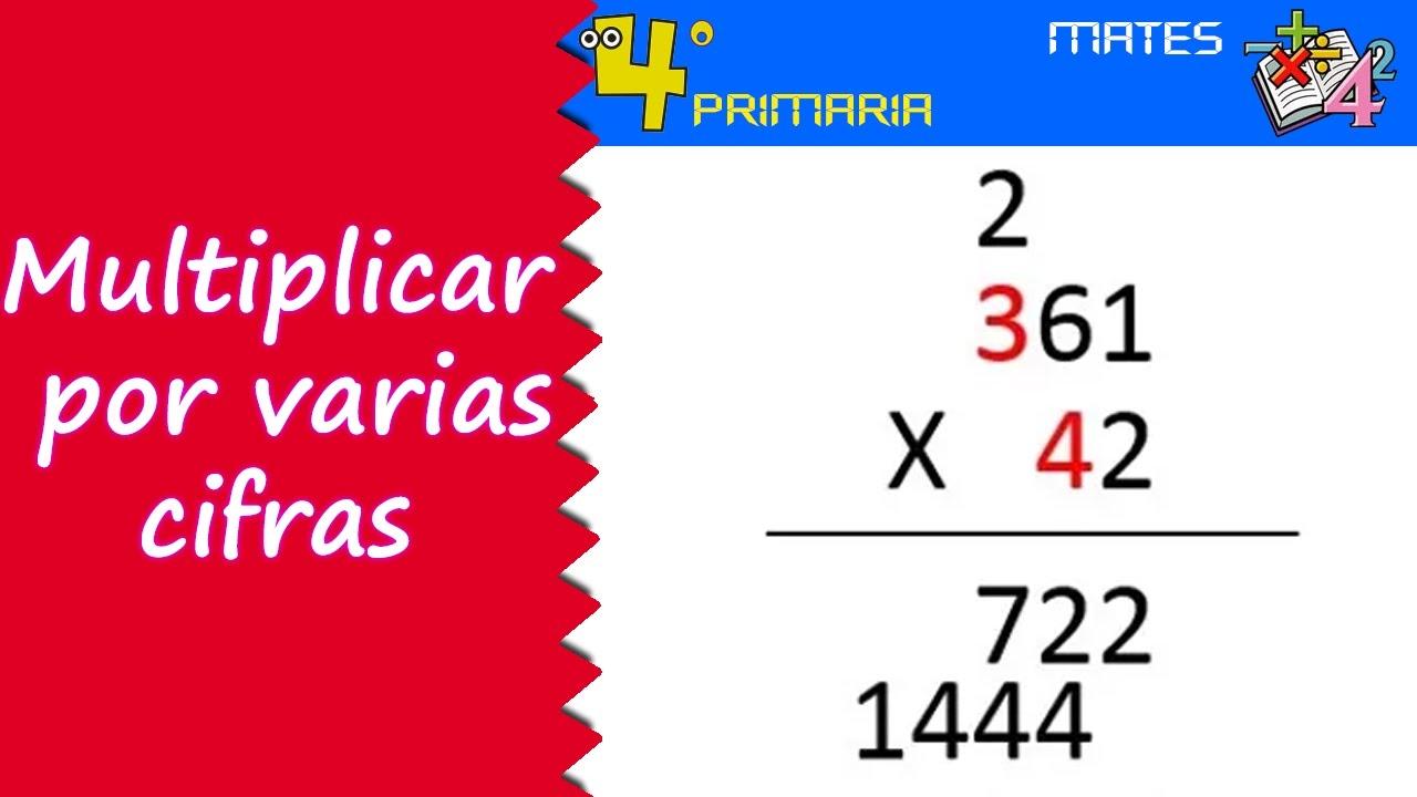 Matemáticas. 4º Primaria. Tema 3. Multiplicación por números de varias cifras