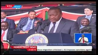 Monday Night News: President Uhuru Kenyatta urges the Youth to champion their own future
