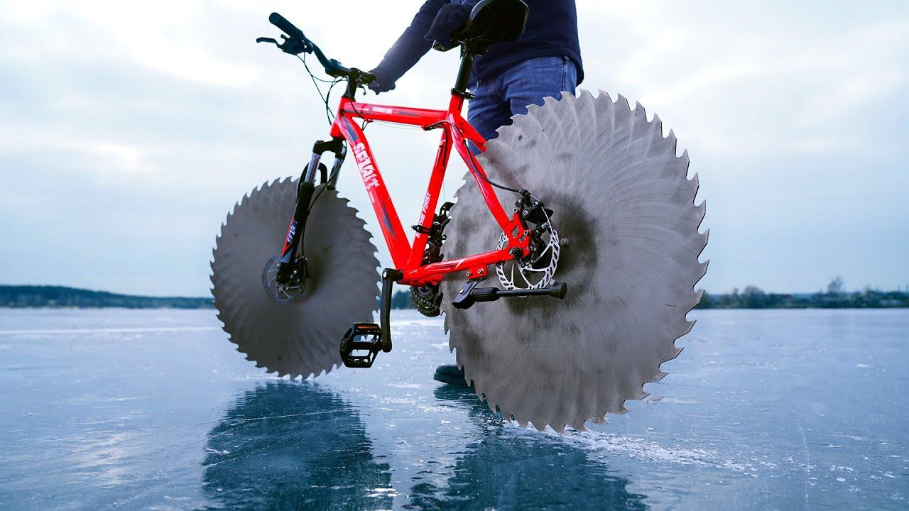 Wie man ein Fahrrad für das Fahren auf dem Eis baut