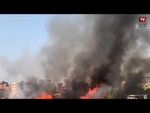 اندلاع حريق في سطبل عنتر بمصر القديمة