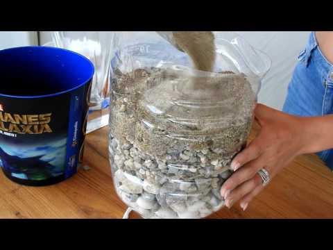 Filtro purificador de agua casero