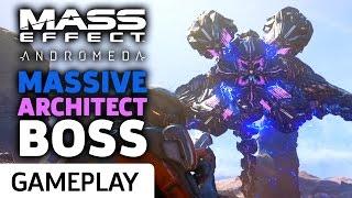 Mass Effect: Andromeda - Taking Down The Massive Architect Boss Gameplay
