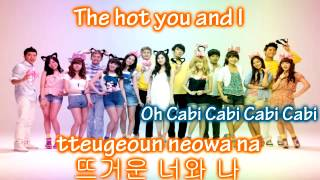 Girls' Generation & 2PM - Cabi Song ~ Lyrics on screen [Eng. || Rom. || Han.]