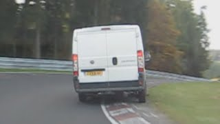 Fiat DUCATO VAN vs SEAT Mii Nordschleife Onboard with CRASH @ the End